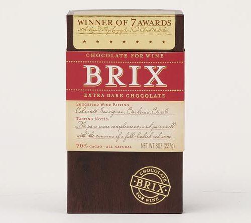 Vinsjokolade. bordeaux. Extra dark.
